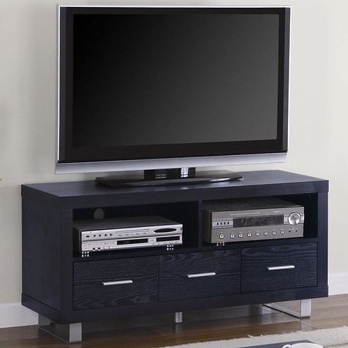 TV Stands Contemporary Media Console with Shelves and Drawers
