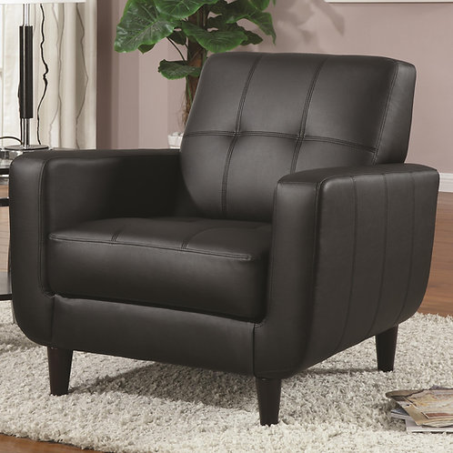 #012 PADDED SEAT ACCENT CHAIR BLACK