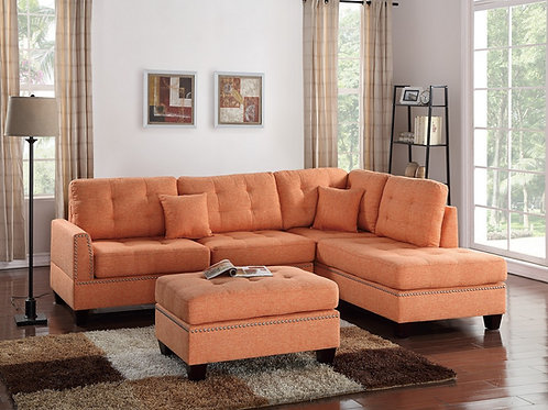 SECTIONAL 3 PCS W/2 ACCENT PILLOWS