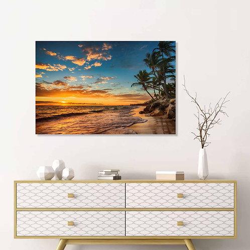 #076 PARADISE BEACH GLASS WALL ART