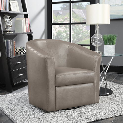 #011 SLOPED ARM ACCENT SWIVEL CHAIR