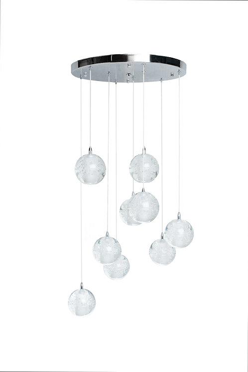 Sparkling Spheres- 9 Light LED Chandelier