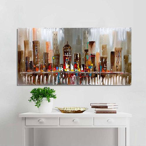 #049 MANHATTAN SKYLINE WALL ART