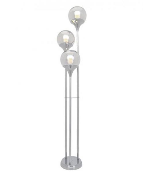 FLOOR LAMP CHROME SHADE