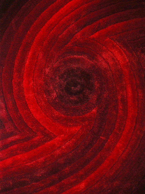 #006 CYCLONE AREA RUG RED