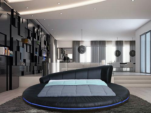 #057 Round Black Platform Bed