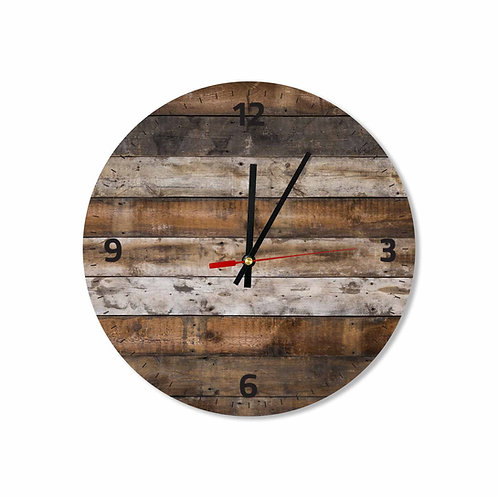 #35 Rustic Wooden Background Round