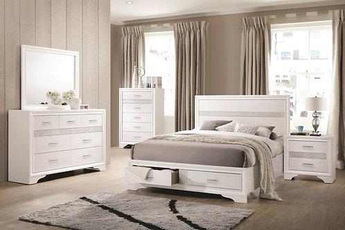 #015 Miranda Storage Bed with 2 Dovetail Drawers