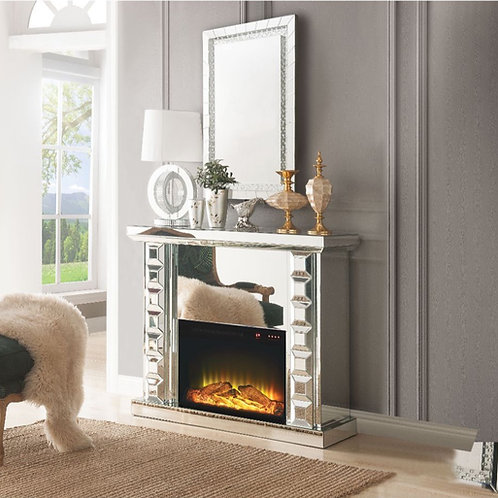 #002 DOMINIC FIREPLACE MIRRORED