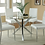 Thumbnail: #016 VANCE DINING SET W/4 CHAIRS BLACK OR WHITE