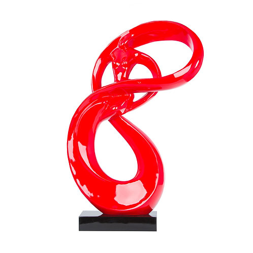 Lady Roll Resin Sculpture- Red