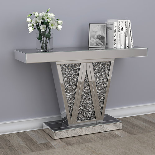 #025 RECTANGULAR W CONSOLE TABLE & MIRROR
