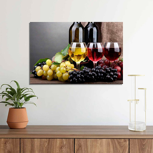 #068 LIFE WITH WINE GLASS WALL ART
