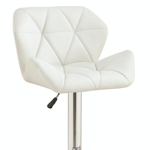 Dining Chairs and Bar Stools Adjustable Stool w/ Chrome Base