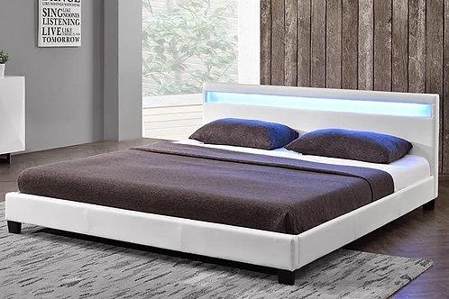 #077 WHITE BED WHIT LED LIGHT