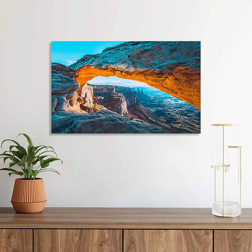 #077 GRAND CANYON VIEW GLASS WALL ART