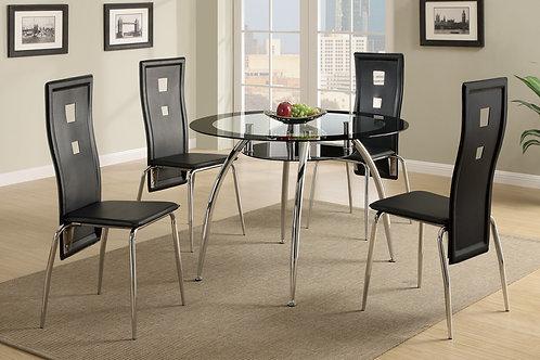 Delphy Black Dining Room Set