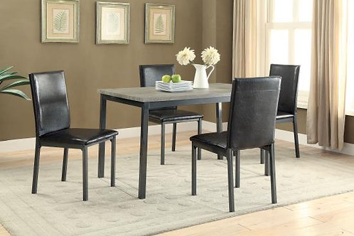 #005 GARZA 5 PIECE TABLE & CHAIR SET