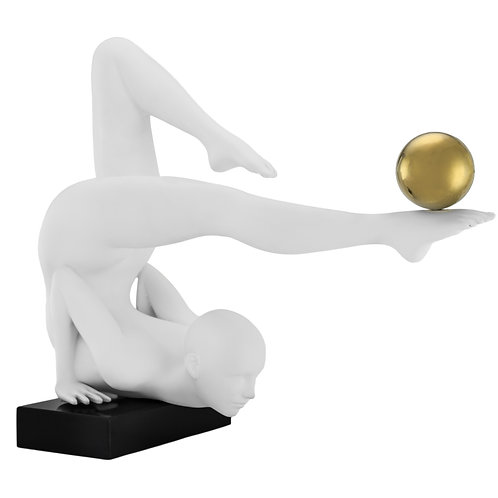 Margoux Doll- Matt White & Gold