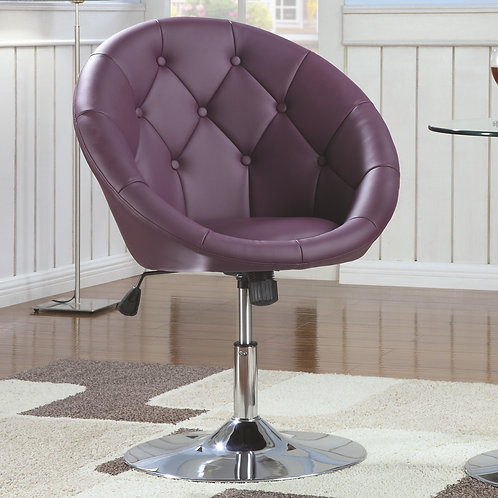Dining Chairs and Bar Stools Contemporary Round Tufted Purple Swivel Chair
