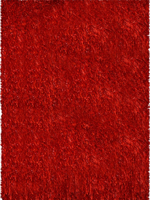 #014 SHAG RUG RED COLOR