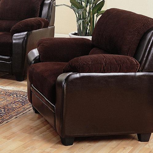 Monika Stationary Chair with Wood Feet