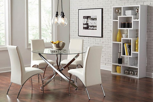 #018 BECKHMAN DINING SET W/4 CHAIR