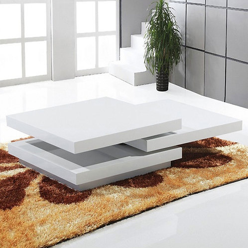 #009 MULTIFORM CUBIC COFFEE TABLE WHITE