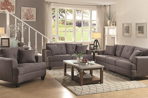 Samuel Sofa Sofa with Tufted Cushions/loveseat