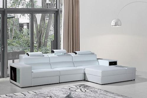 #046 Polaris Mini - Contemporary Bonded Leather Sectional Sofa