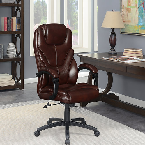 #004 Upholstered Curved Arm Office Chair