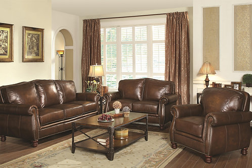 Montbrook Traditional Sofa with Rolled Arms and Nail head Trim/love seat/chair