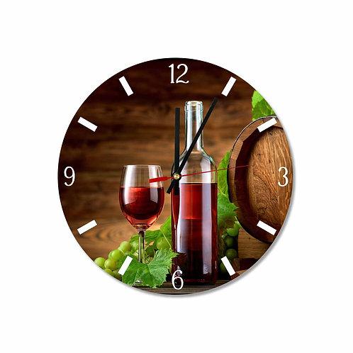 #18 Oak Wine Keg, Glass & Bottle Round