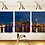 Thumbnail: #088 MIAMI CITY NIGHT GLASS WALL ART