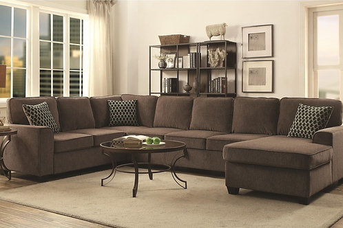 #012 PROVENCE STORAGE SECTIONAL BROWN
