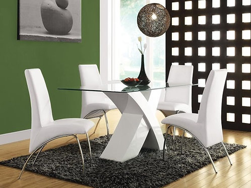 #008 OPHELIA / DINING SET 5PC (TABLE + 4 CHAIRS)