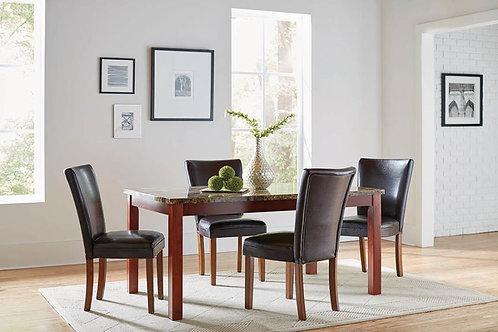 TELEGRAPH DINING SET / 4 CHAIRS