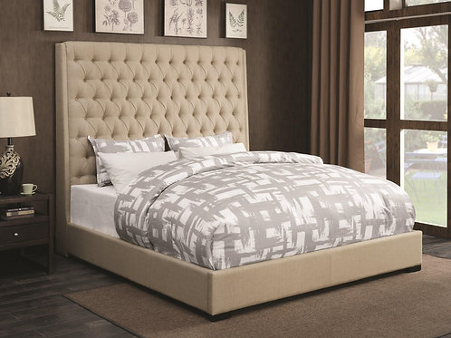 Camile Upholstered  Bed with  Tufting