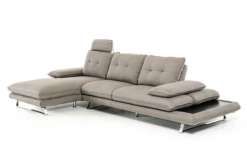 #002 MODERN GREY FABRIC SECTIONAL