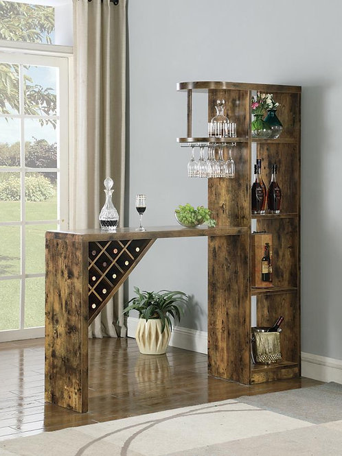 #011 WOOD FINISH BAR UNIT