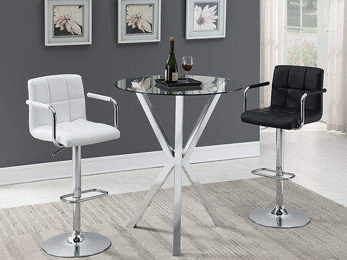 #007 CONTEMPORARY ROUND TABLE -2 BAR STOOL