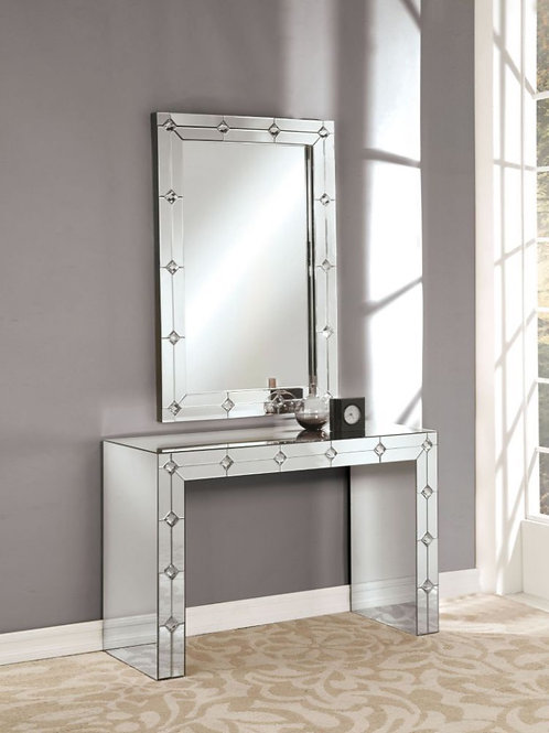 #017 HESSA CONSOLE TABLE & MIRRORED