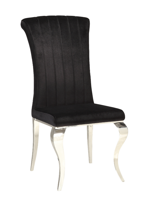 #006 CARONE CHAIRS BLACK OR GRAY WITH CHROME