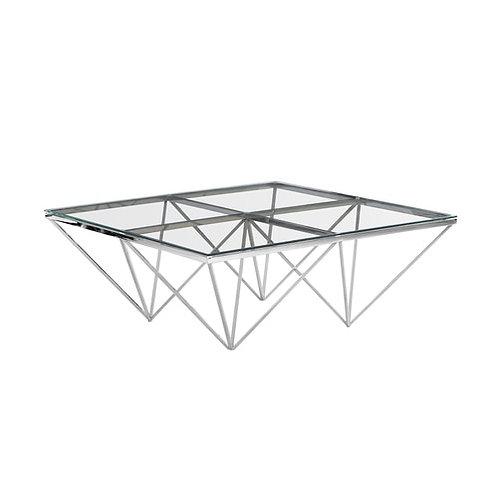 SILVER DIAMOND LEG COCKTAIL TABLE