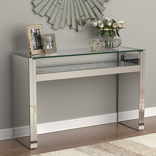 #027 1-SHELF CONSOLE TABLE & MIRROR DIAMOND