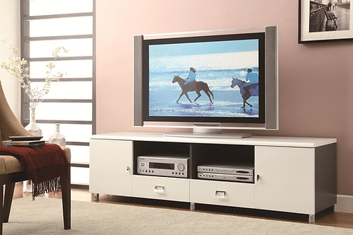 TV Stands Contemporary TV Console with Chrome Hardware