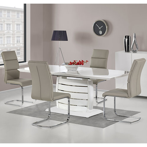 #034 EXPANDABLE DINING TABLE WHITE