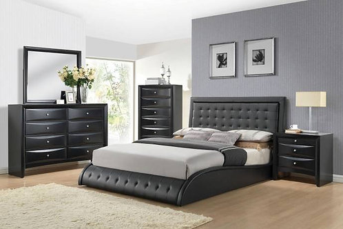 Tirrel Black Bedroom Set