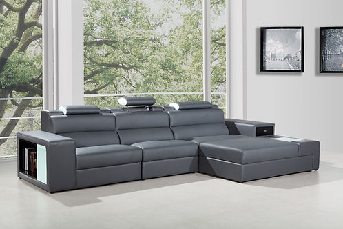 #047 Polaris Mini - Contemporary Bonded Leather Sectional Sofa