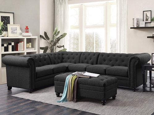 #010 Roy Button-Tufted Sectional Sofa